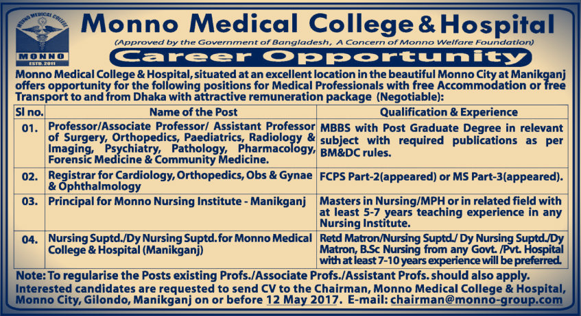 monno medical job